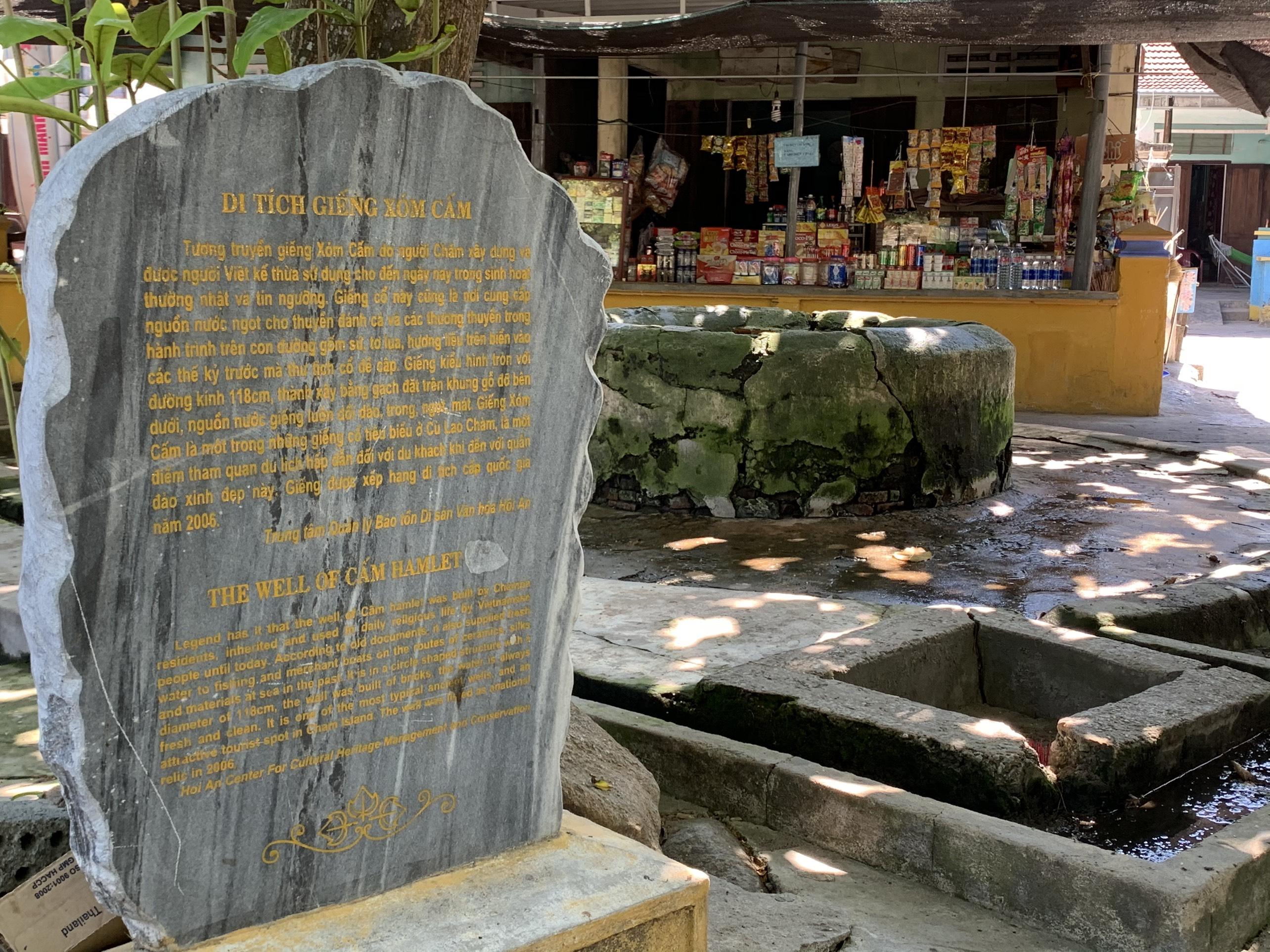 Di tích còn sót lại của người dân Champa đã từng sinh sống trên đảo