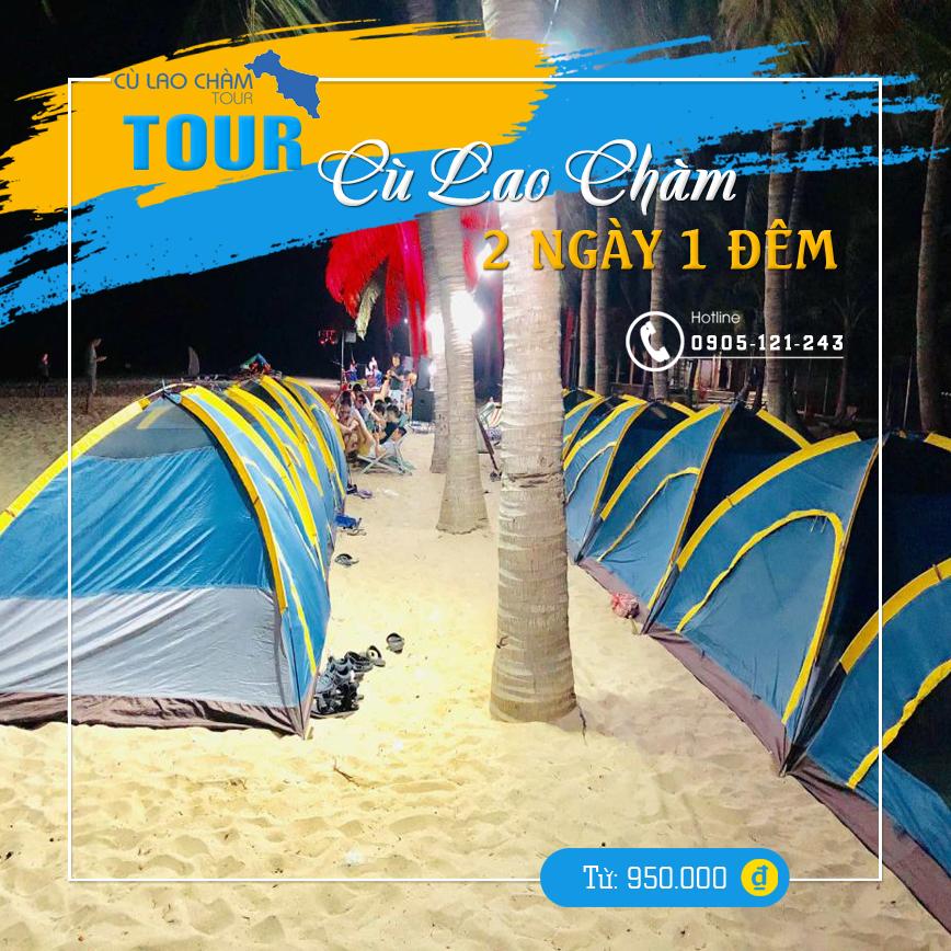 Nghĩ đêm trên đảo bằng lều du lịch