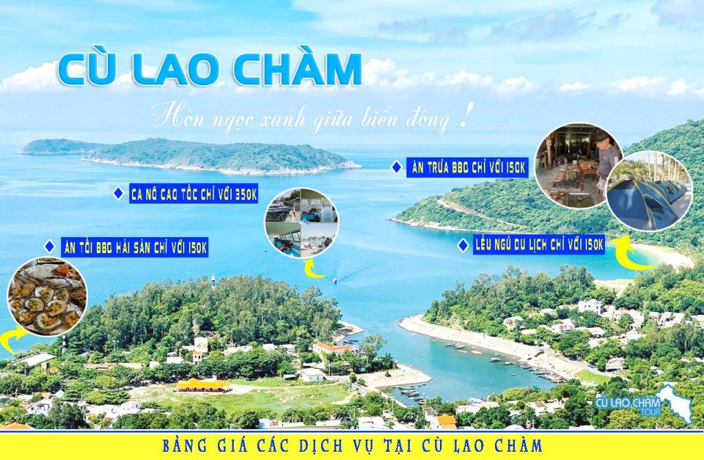 Bảng giá các dịch vụ tại đảo Cù Lao Chàm