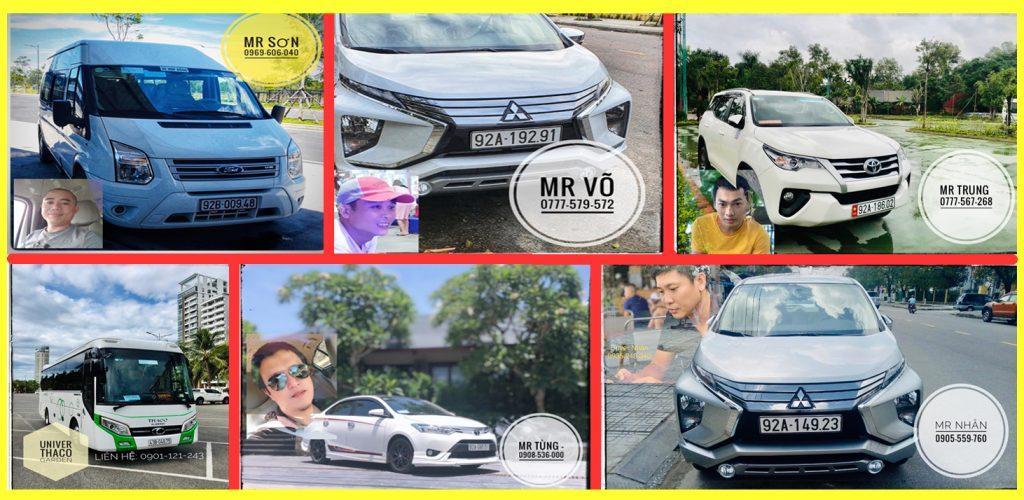Các loại xe ô tô chuyên đón khách từ Đà Nẵng đi Cù Lao Chàm