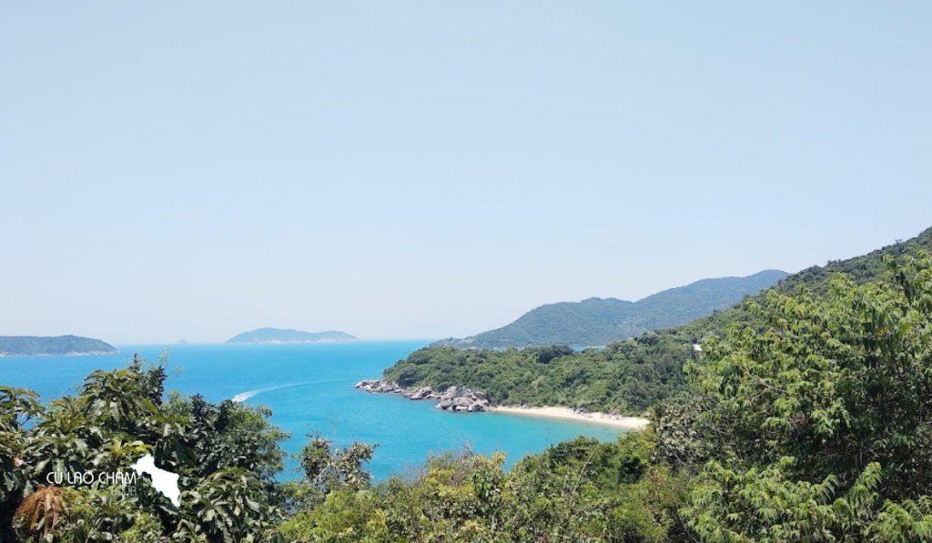 Bãi Bắc Cù Lao Chàm nhìn từ trên cao