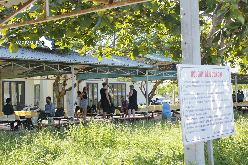 Văn phòng bán vé ca nô cao tốc tại Cảng Cửa Đại ra đảo Cù Lao Chàm
