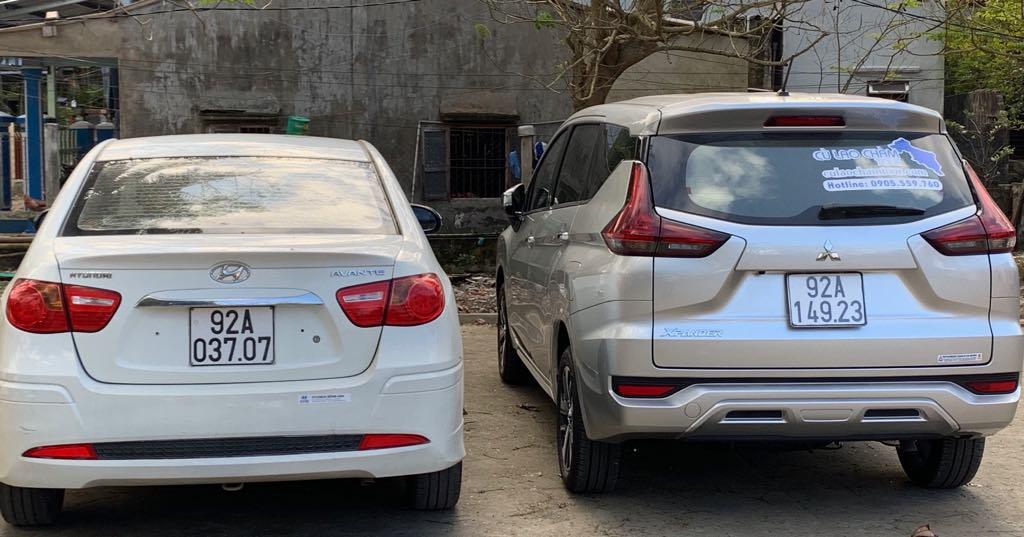 Xe ô tô đưa đón khách đến Cù Lao Chàm