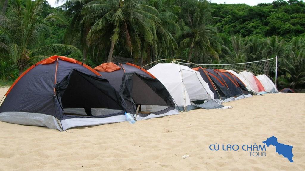 Lều ngủ đêm tại Cù Lao Chàm